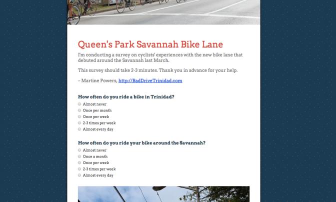 SURVEY: Do you ride a bike around the Savannah?